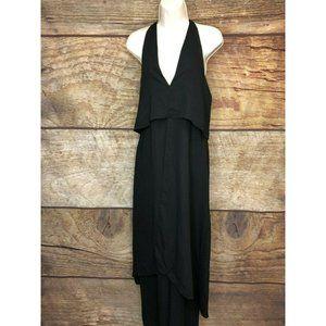 Asos Tall Womens 4 Black Ruffle Layered Jumpsuit